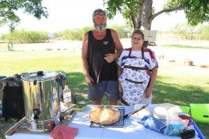 Heather and Bill Anderson, the Camp Cooks for The Borella Ride.