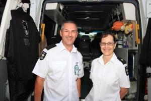 Martin Anderson and Lorina Knox, volunteer Ambulance Officers on The Borella Ride