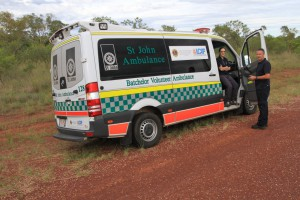 St John Ambulance on The Borella Ride