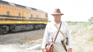 Richard Borella prepares to depart Pine Creek by train, as his grandfather did 100 years ago.